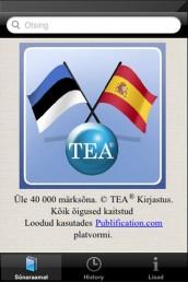 app007 - Hispaania-eesti-hispaania sõnastik (App Store'is)