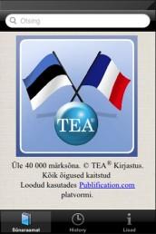 app008 - Prantsuse-eesti-prantsuse sõnastik (App Store'is)