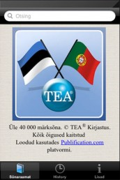 app009 - Portugali-eesti-portugali sõnastik (App Store'is)