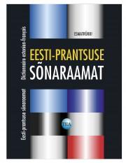 001287 - Eesti-prantsuse sõnaraamat