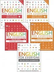 007405KG - ENGLISH FOR EVERYONE<br>Põhjalik kursus iseõppijale<br>Õpikud algajale 1 ja 2<br>Tööraamatud algajale 1 ja 2 <br>Grammatika