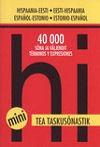 001266 - TEA minitaskusõnastik. Hispaania-eesti-hispaania